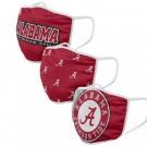 Alabama Crimson Tide FOCO Cloth Face Covering Civil Masks 3 Pics