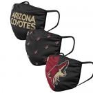 Arizona Coyotes FOCO Cloth Face Covering Civil Masks 3 Pics