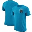 Carolina Panthers Marled Stadium Heathered Printed T Shirt 200807