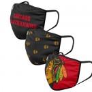 Chicago Blackhawks FOCO Cloth Face Covering Civil Masks 3 Pics