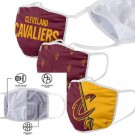 Cleveland Cavaliers FOCO Cloth Face Covering Civil Masks 3 Pics