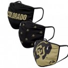 Colorado Buffaloes FOCO Cloth Face Covering Civil Masks 3 Pics