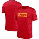Kansas City Chiefs Marled Stadium Heathered Printed T Shirt 200806