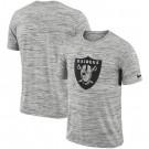 Las Vegas Raiders Marled Stadium Heathered Printed T Shirt 200835