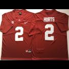 Men's Alabama Crimson Tide #2 Jalen Hurts Limited Red 2018 Rush Color College Football Jersey