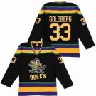 Men's Anaheim Ducks #33 Grey Goldberg Black Throwback Jersey