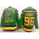 Men's Anaheim Ducks #96 Charlie Conway Green Throwback Jersey
