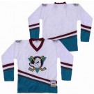 Men's Anaheim Ducks Blank White Green Throwback Jersey