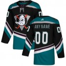 Men's Anaheim Ducks Customized Black Alternater Authentic Jersey
