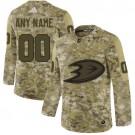 Men's Anaheim Ducks Customized Camo Authentic Jersey