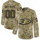Men's Anaheim Ducks Customized Camo Fashion Authentic Jersey