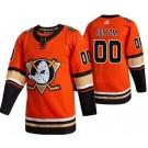 Men's Anaheim Ducks Customized Orange Alternate Authentic Jersey