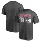 Men's Arizona Cardinals Heather Charcoal Stronger Together Printed T-Shirt 0793