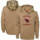 Men's Arizona Cardinals Khaki 2019 Salute to Service Therma Printed Pullover Hoodie