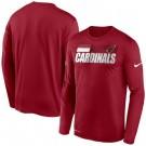 Men's Arizona Cardinals Red Sideline Impact Legend Performance Long Sleeves T Shirt 617