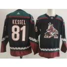 Men's Arizona Coyotes #81 Phil Kessel Black Alternate Authentic Jersey