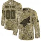 Men's Arizona Coyotes Customized Camo Authentic Jersey