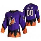 Men's Arizona Coyotes Customized Purple 2021 Reverse Retro Special Authentic Jersey