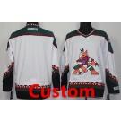 Men's Arizona Coyotes Customized White Throwback Jersey