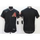 Men's Arizona Diamondbacks Blank Black Alternate 2020 FlexBase Jersey