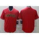 Men's Arizona Diamondbacks Blank Red Alternate Cool Base Jersey