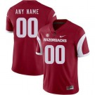 Men's Arkansas Razorbacks Customized Red Rush College Football Jersey