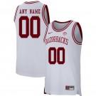 Men's Arkansas Razorbacks Customized White 2019 College Basketball Jersey