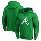 Men's Atlanta Braves Green Printed Pullover Hoodie