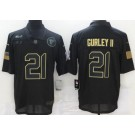 Men's Atlanta Falcons #21 Todd Gurley II Limited Black 2020 Salute To Service Jersey
