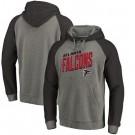 Men's Atlanta Falcons Gray Slant Strike Tri Blend Raglan Pullover Hoodie