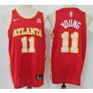 Men's Atlanta Hawks #11 Trae Young Red 2020 Icon Sponsor Swingman Jersey