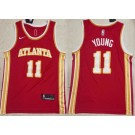 Men's Atlanta Hawks #11 Trae Young Red 2020 Icon Swingman Jersey