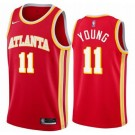 Men's Atlanta Hawks #11 Trae Young Red Icon Hot Press Jersey