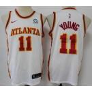 Men's Atlanta Hawks #11 Trae Young White 2020 Icon Sponsor Swingman Jersey