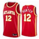 Men's Atlanta Hawks #12 De'Andre Hunter Red Icon Hot Press Jersey
