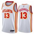 Men's Atlanta Hawks #13 Bogdan Bogdanovic White Association Icon Hot Press Jersey