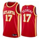 Men's Atlanta Hawks #17 Onyeka Okongwu Red Icon Hot Press Jersey