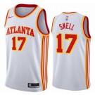 Men's Atlanta Hawks #17 Tony Snell White Association Icon Hot Press Jersey