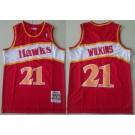 Men's Atlanta Hawks #21 Dominique Wilkins Red 1986 Throwback Swingman Jersey