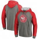 Men's Atlanta Hawks Gray Red 1 Printed Pullover Hoodie