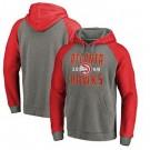 Men's Atlanta Hawks Gray Red 2 Printed Pullover Hoodie