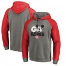 Men's Atlanta Hawks Gray Red Printed Pullover Hoodie