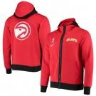 Men's Atlanta Hawks Red Showtime Performance Full Zip Hoodie Jacket