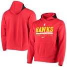 Men's Atlanta Hawks Red Spotlight On Court Practice Performance Pullover Hoodie