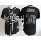 Men's Bad Boys #10 Boriz Biggie Black Baseball Jersey