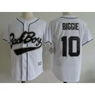 Men's Bad Boys #10 Boriz Biggie White Baseball Jersey