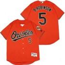 Men's Baltimore Orioles #5 Brooks Robinson Orange Turn Back The Clock Jersey