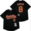 Men's Baltimore Orioles #8 Cal Ripken Black 1993 Throwback Jersey