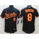 Men's Baltimore Orioles #8 Cal Ripken Black FlexBase Jersey