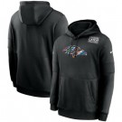 Men's Baltimore Ravens Black Crucial Catch Sideline Performance Pullover Hoodie